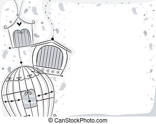 鳥, 籠子