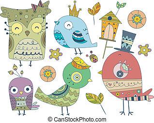 鳥, doodles