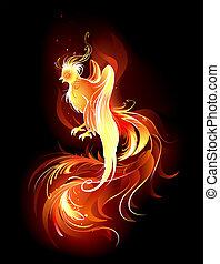 鳥, fiery
