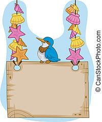 鳥, signage