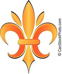 鳶尾花形的紋章, 圖象