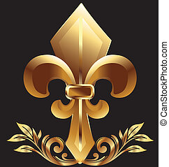 鳶尾花形的紋章, 新奧爾良, 符號