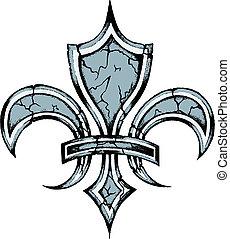 鳶尾花形的紋章, 符號