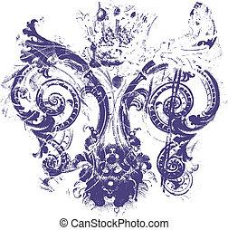 鳶尾花形的紋章, 背景, 結構