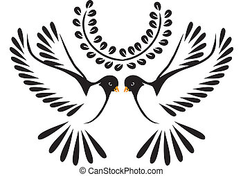 鴿, 飛行, 或者, 鳥