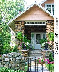 鵝卵石, 房子, 2