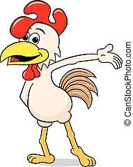 鶏, 提出すること, 漫画