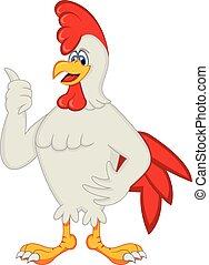 鶏, 漫画, おんどり