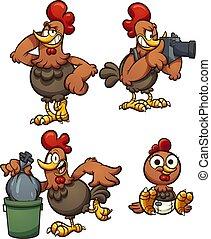 鶏, 漫画