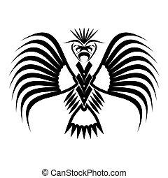 鷹, 符號, 以及, 紋身, 矢量, illustration.