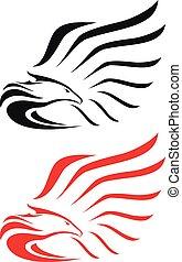 鷹, 符號, 或者, 吉祥人