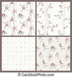 鸟房屋, seamless, bachground, -, 放置, 在中, 4, 为, 你, 设计, 或者,...