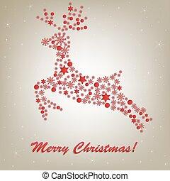 鹿, クリスマス