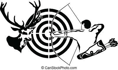 鹿, 射手, ターゲット, 探求
