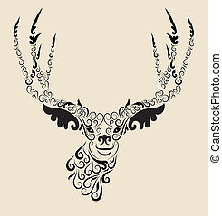 鹿, 頭, 装飾