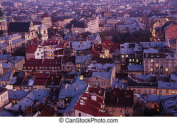 黃昏, 在, lviv