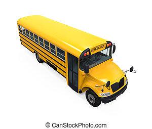 黃色的學校公共汽車
