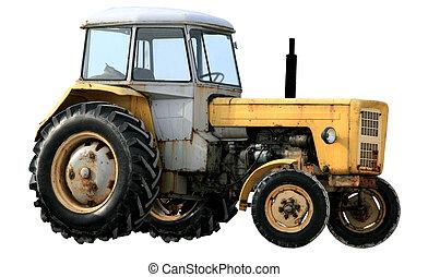 黃色的拖拉机