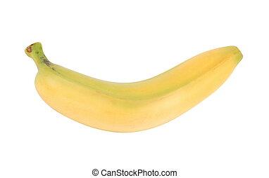 黃色的香蕉, 被隔离, 在懷特上