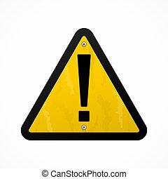黃色, 危險標誌