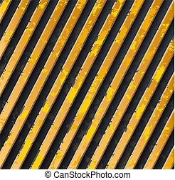 黃色, 小心, 條紋