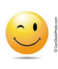 黃色, 微笑的臉