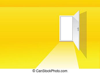 黃色, 房間