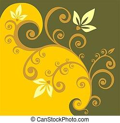 黃色, 捲曲, 背景