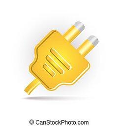 黃色, 插上插頭