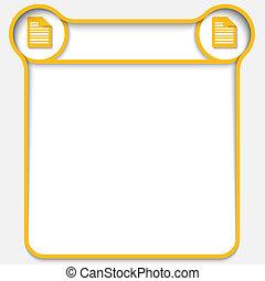 黃色, 摘要, 正文箱子, 由于, 二, 筆記, 圖象