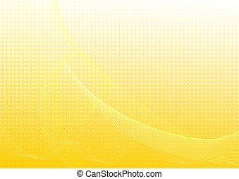 黃色, 摘要, 背景, 由于, 波浪