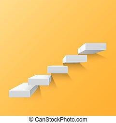 黃色, 摘要, 背景, 由于, 白色, 樓梯