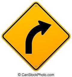 黃色, 曲線, 簽署