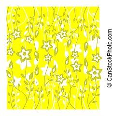 黃色, 植物, 背景