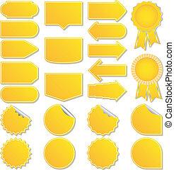黃色, 矢量, 價牌