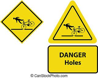 黃色, 自行車, 警示