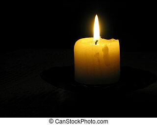 黃色, 蠟燭