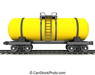 黃色, 鐵路, 坦克, 貨車