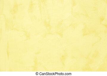 黃色, grunge, 牆, 為, 結構, 背景