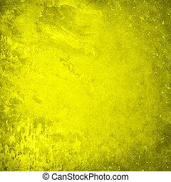 黃色, grunge, 背景