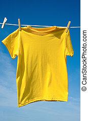 黃色, t恤衫
