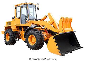 黃色, tractor.