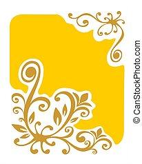 黃色, vegetative, 背景