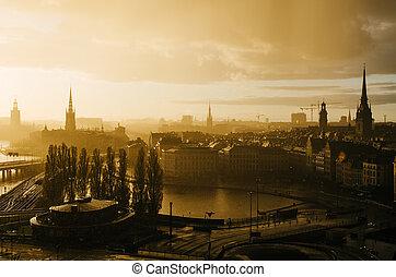 黃金般的日落, 斯德哥爾摩