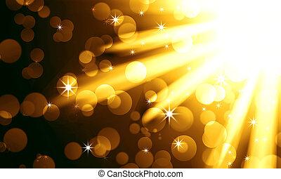 黃金, 光, 聚光燈