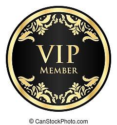 黃金, 圖案, 成員, 大人物, 黑色, 葡萄酒, 徽章