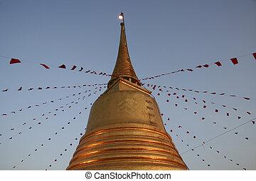 黃金, 建立, 在, 曼谷