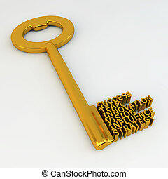 黃金, 成功, 革新, 影響, 插圖, 戰略, 鑰匙, 隊, 視覺