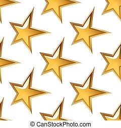 黃金, 星, seamless, 有光澤, 圖案