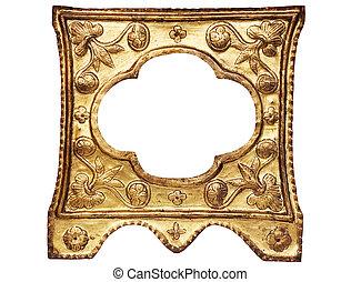 黃金, 框架, 圖片